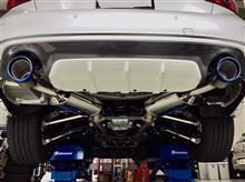 チタンフェイスが美しい、柿本レーシングClass KRマフラーをスカイライン400Rに装着。これは軽量化にもなりますね〜