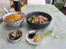 レトロな鈴屋食堂にてカツ丼と肉うどんを愉しむ