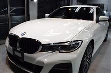 「遠いところありがとうございます」BMW 3シリーズセダンのガラスコーティング【リボルト神戸】