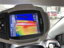 車内温度を測りました やはり暑い!