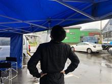地区戦ラリーARK sprint300は大雨( ;´Д`)