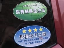 2020.08.08(土)~09(日) 「燃費基準達成車」「低排出ガス車」ステッカー撤去