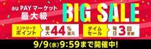 【au PAYマーケットBIG SALE開催中!】最大1,000円OFFクーポン配布中!還元祭期間中はポイント10倍キャンペーン実施中!