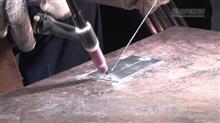 TIG溶接5日目 薄板2ミリ厚、下向きすみ肉角溶接