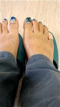 とりあえず今日のニュース、足の指を骨折したこと。