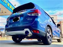 """今回は青つながり!? CUSCOブルーもきれいですが、ガナドールのチタニウム製ブルー発色も鮮やかですね〜 というわけで""""e‐BOXER""""SKEフォレスターに車高調&マフラー!!"""