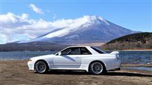 湖畔の富士