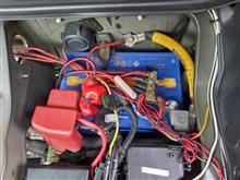 バッテリー交換とスタック救助