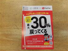 paypay 30%還元は今月末までです。