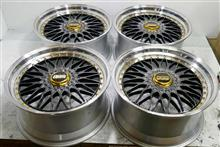 BBS-SuperRS20インチ/ハイパー塗装DBK(DS-SLD)&ポリッシュパウダーアクリルクリアー