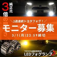 【シェアスタイル】モニター募集🎁2週連続!トヨタ最新車種用ミニフォグランプ💡1週目は単色タイプを3名様に~!