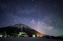 伯耆富士と天の川