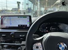 BMW iDrive 7のApple CarPlay セカンドスクリーン「ターンバイターンの経路案内」機能