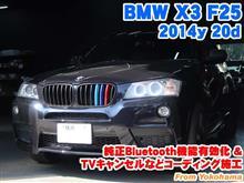 BMW X3(F25) 純正Bluetooth機能有効化とコーディング施工