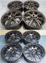 FIATアバルト695純正17インチ/パウダーブロンズリンクル(中目)&GIOMIC EX01R17インチ/パウダーマットブロンズブラック