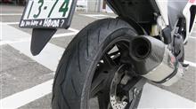 グローブ、タイヤとチェーンを新調したのに~~。
