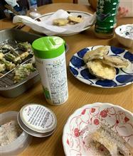 男の料理 春の山菜、タラの芽やこごみの揚げたて天婦羅を堪能したよ!