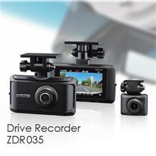 前後STARVISで夜間も明るく記録×超広角レンズで広範囲の画像を記録 前後2カメラドライブレコーダー ZDR035 発売