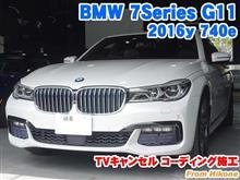 BMW 7シリーズセダン(G11) TVキャンセルコーディング施工