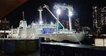船中泊で新島への往路 新サルビア丸