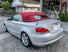 BMW 120iカブリオレのブレーキパッドを低ダストに