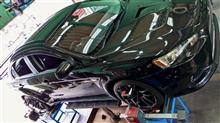 タイヤをポテンザ・アドレナリンRE004を交換したランサーエボリューションX。装着後にはもったいない使い方にならないよう、アライメント調整も行いました!!