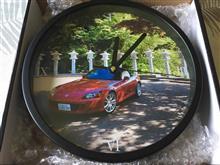愛車の写真を壁掛け時計に