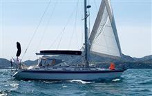 辛坊治郎さんのヨット、太平洋単独横断中
