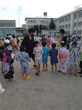 小学校の夏祭りへ参加