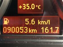 今回の燃費