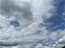 お天気は、雲☁️の多い晴れ☀️❓
