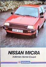 K10マイクラ スウェーデン仕様車カタログ1984年11月の主文翻訳。2021年8月26日投稿。