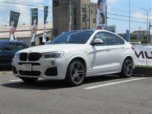 リヤブレーキパッド交換...BMW X4 3.5i ディクセルタイプM