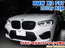 BMW X3(F97) TVキャンセルなどコーディング施工