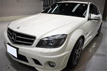V8 6.3Lの魅惑!AMG・C63のガラスコーティング【リボルト姫路】