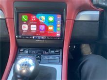 981BoxsterSpyderでApple Car Play(Alpine 7DNX2)