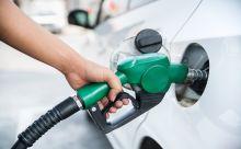 ガソリン補充中の画像