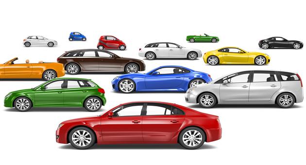 様々な自動車の色