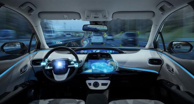 運転中の車のセンシングシステムをバーチャルで可視化