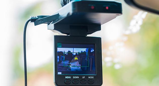 ドライブレコーダーで録画している画像