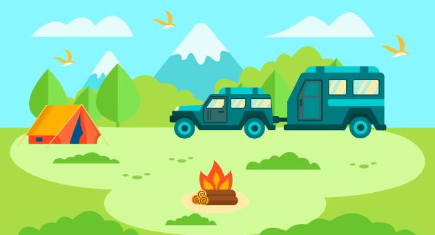 電源で豊かなキャンプ
