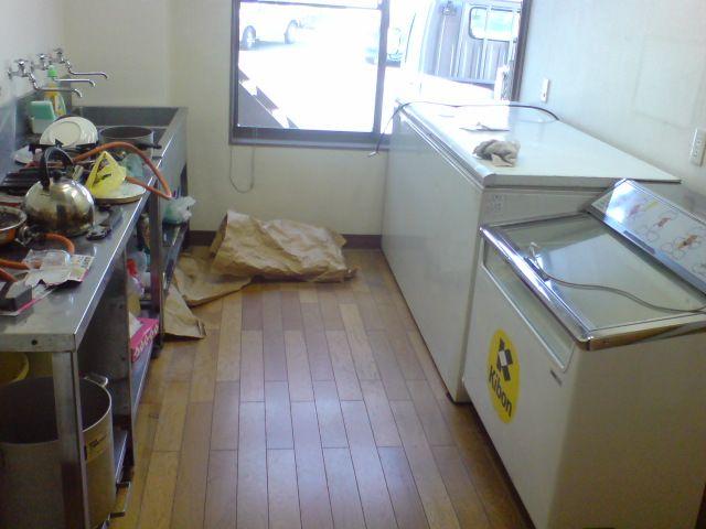 ちゅう位の冷凍庫を設置