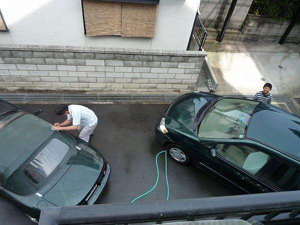 ロードスターとMPVを洗車
