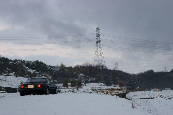 雪とEunos Roadster VR Limited CombinationB