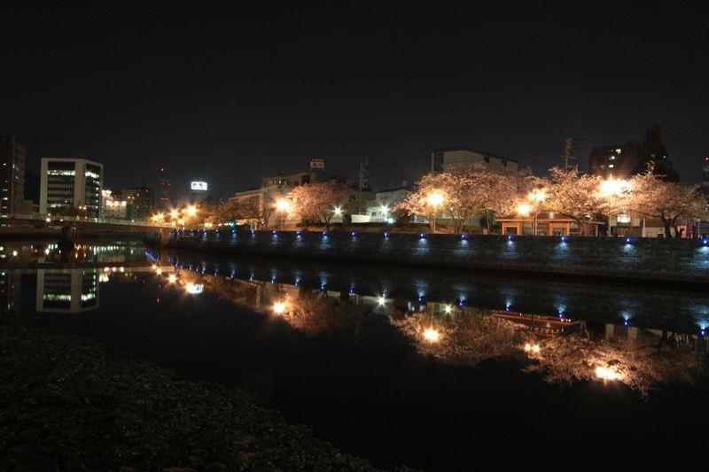 新町川の夜景