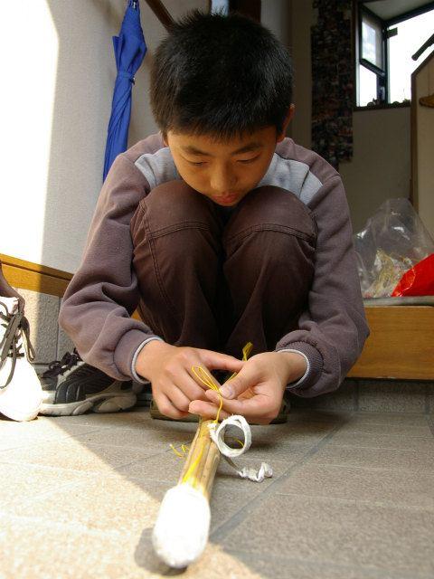 竹刀の手入れと打ち棒づくり