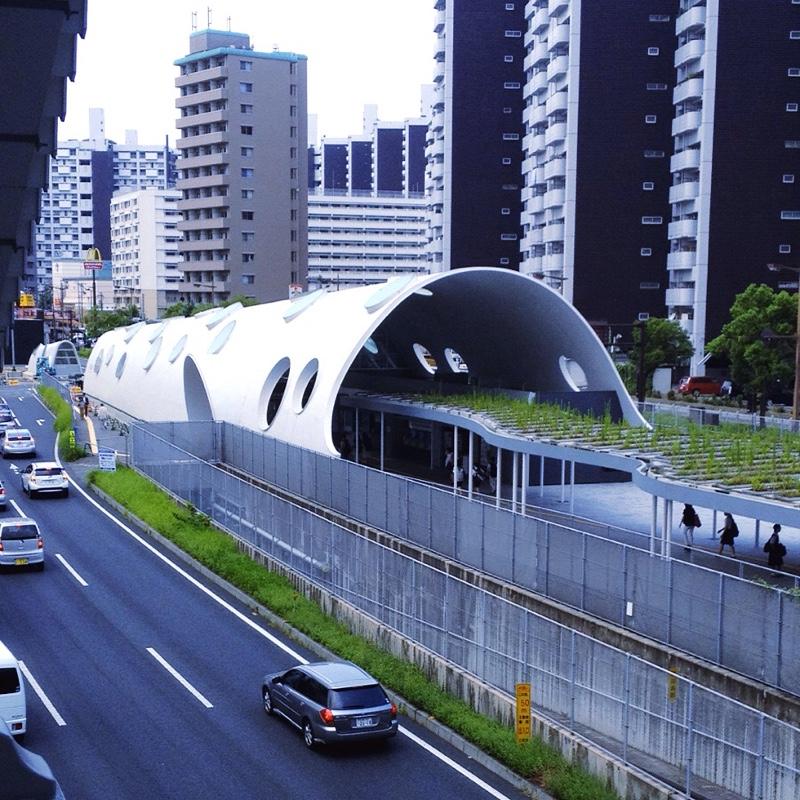 アストラムライン 新白鳥駅 トンネル