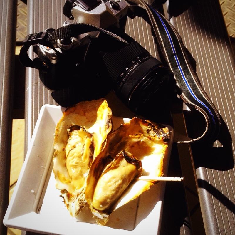 宮島 食事処「とりい」焼きカキ