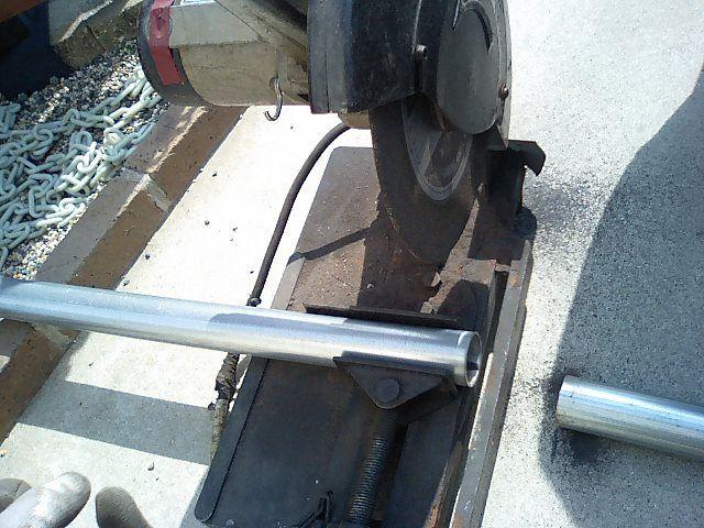 単管パイプ製タイヤホイールラック作製