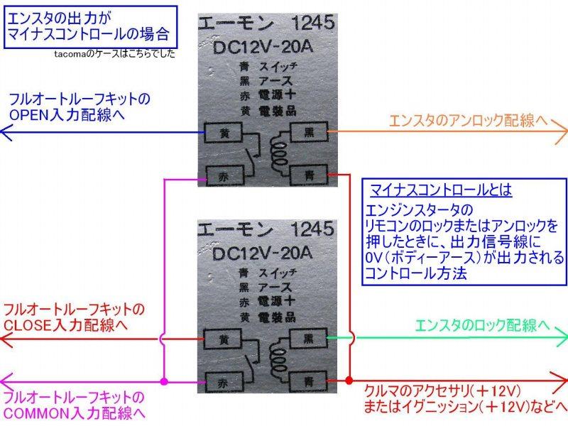 エンジンスターター取り付け④ルーフのリモコン化【フルオート!】